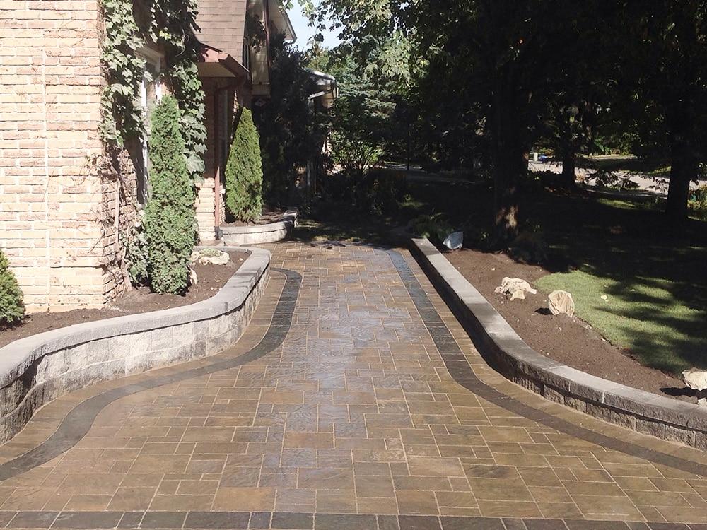Backyard Interlock tile