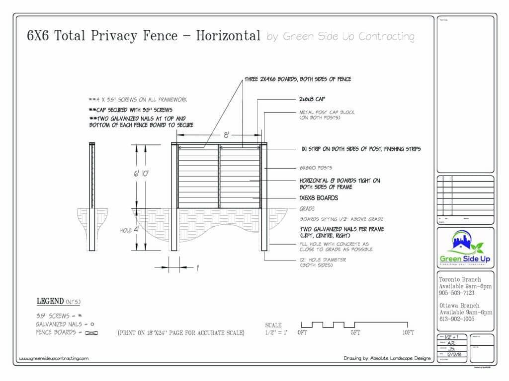 privacy fence horizontal aurora