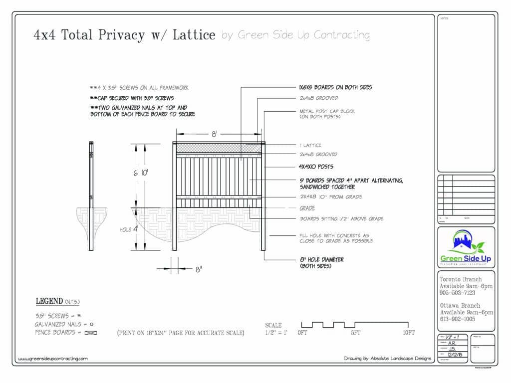 privacy fence with lattice toronto