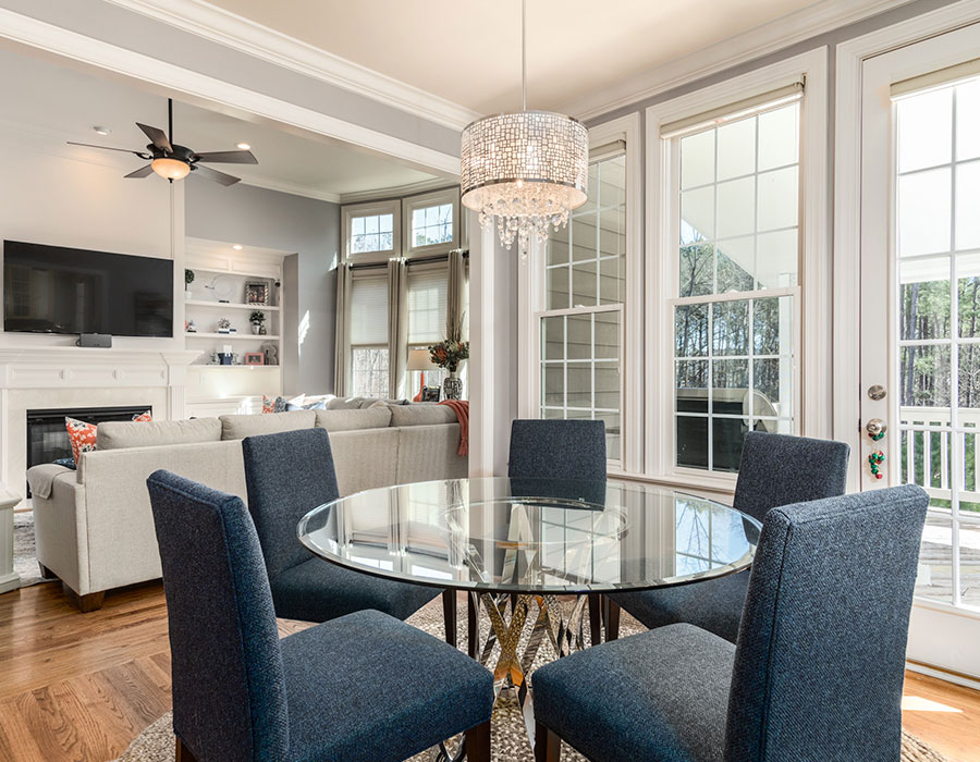 kitchen with family room