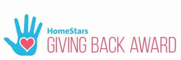 homestars giving back award